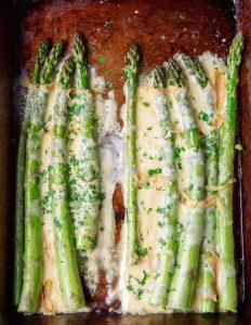 Durrus Cheese Asparagus Dish
